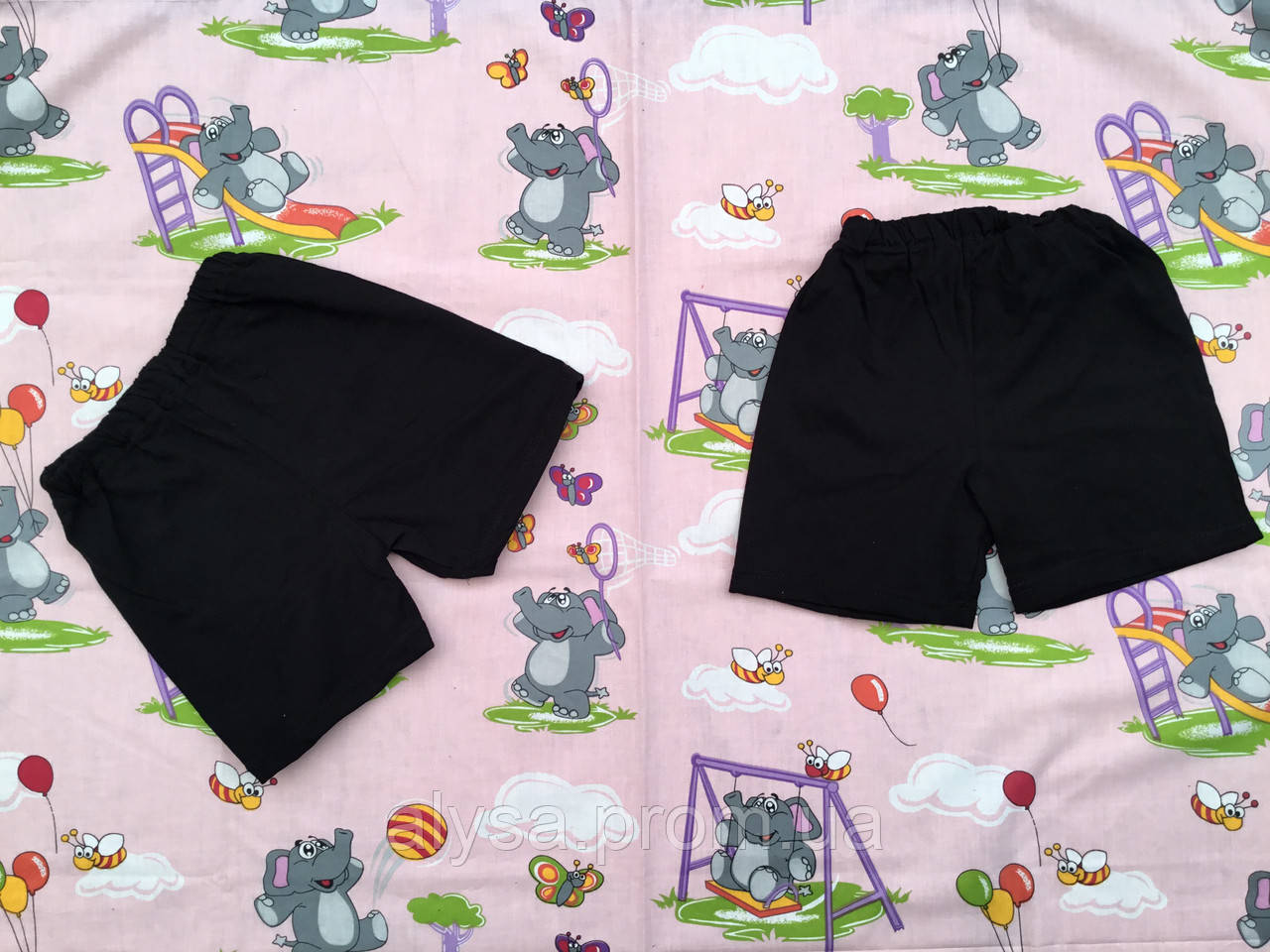 Детские шорты черные (кулир)