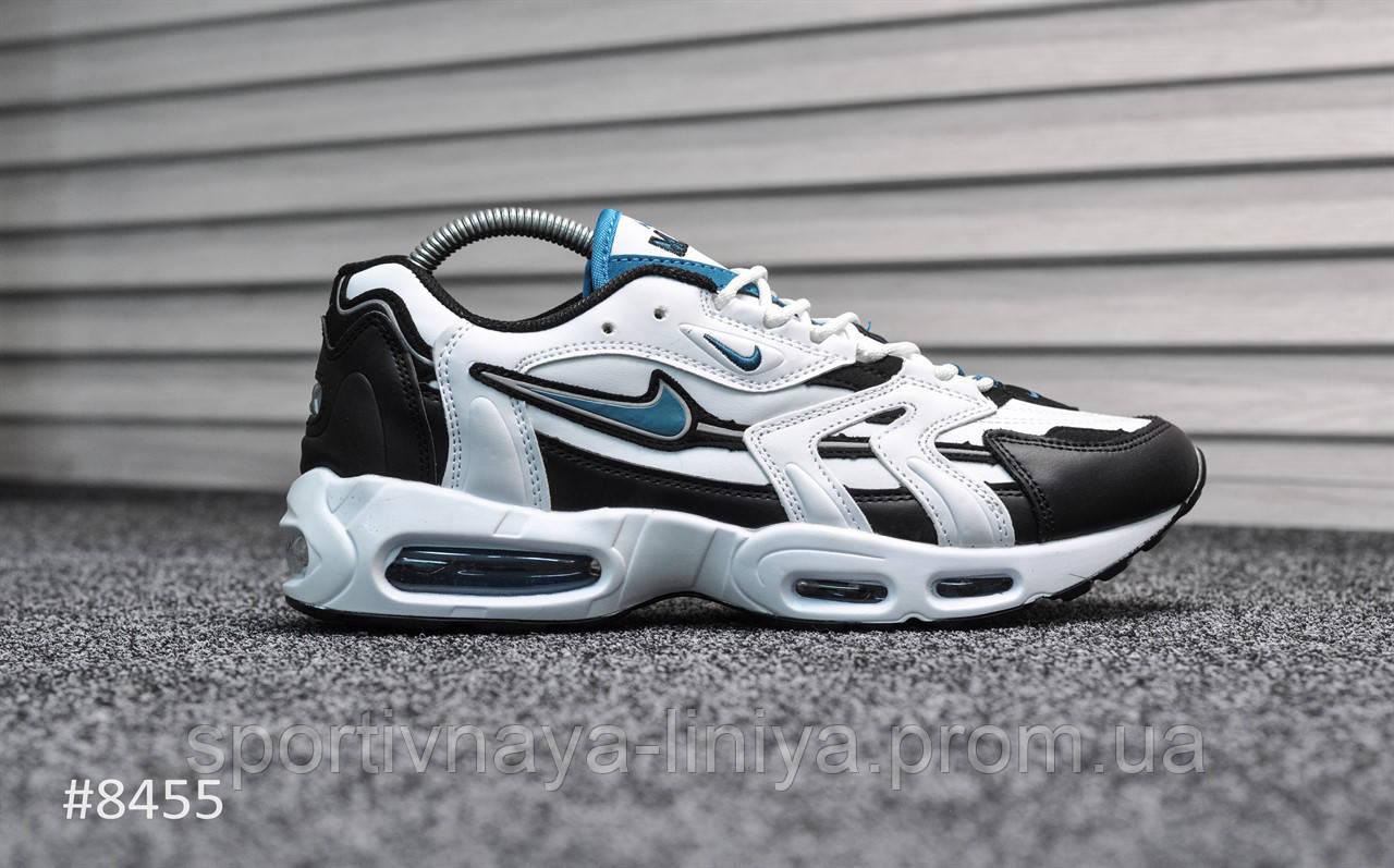 Кроссовки мужские белые Nike Air Max 96 White Teal (реплика)