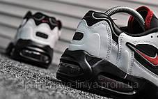 Кроссовки мужские белые Nike Air Max 96 White Black Red (реплика), фото 3