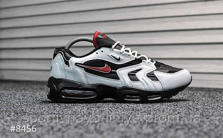 167e1859 Кроссовки мужские белые Nike Air Max 96 White Black Red (реплика), фото 2