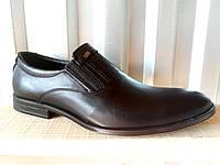 Туфлі чорні шкіряні чоловічі 39 -45 р-р, фото 1