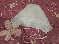 Шапочка батистовая на завязочках для новорожденного ТМ Бемби, фото 1