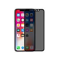Nillkin Apple iPhone X 3D AP+MAX privacy tempered glass Black Защитное Стекло, фото 1