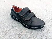 Туфли детские подростковые кожаные на липучке  32-39 р, фото 1