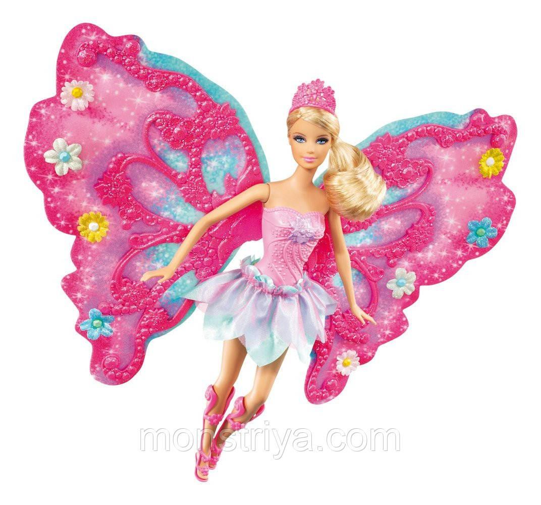 """Кукла Barbie фея """"Порхающий цветок"""" в розовом Барби"""