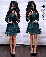 Платье из сетки с цветами и пышной юбкой 8031846, фото 1