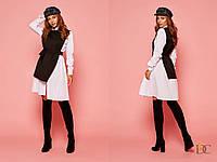 Платье с пышной юбкой с имитацией двойки 31031855, фото 1