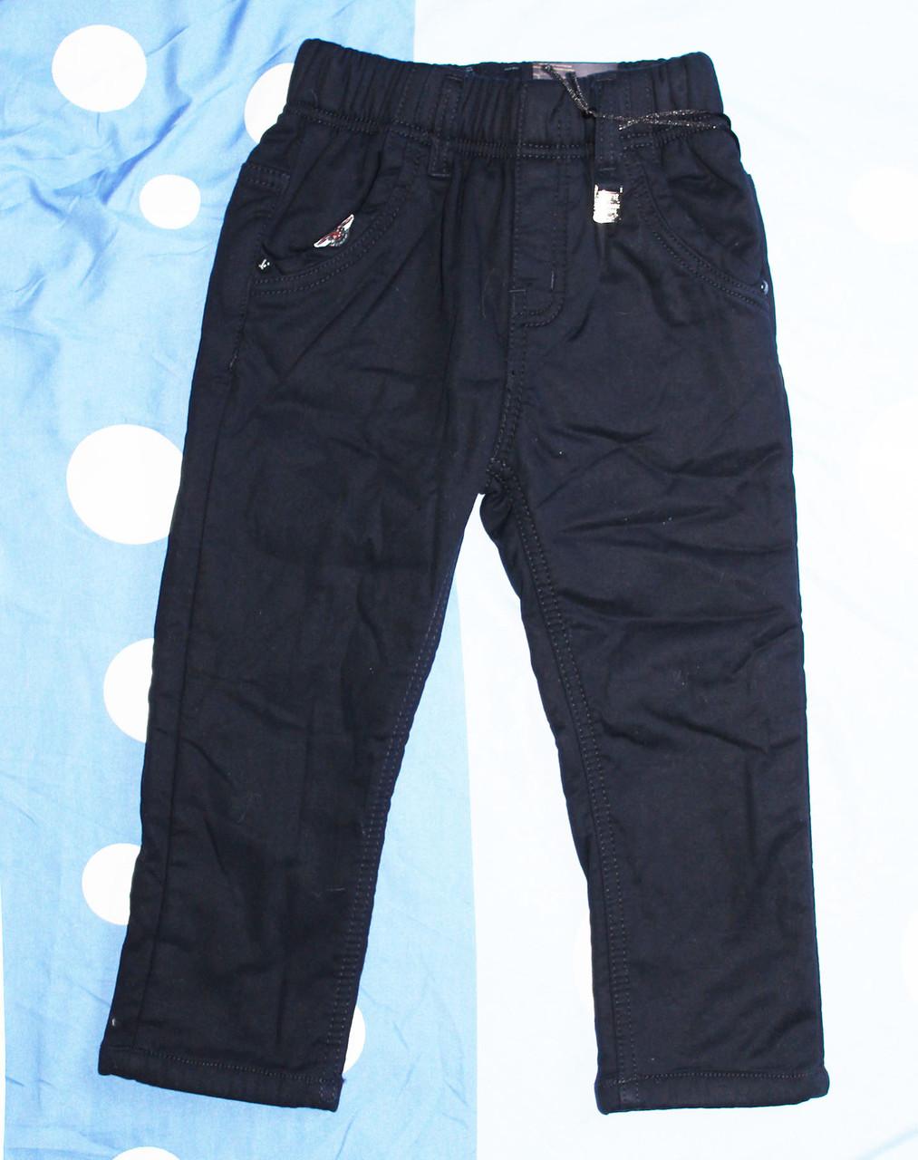 Теплые брюки для маленького мальчика на флисовой подкладке