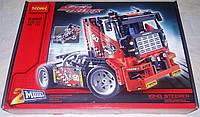 Конструктор Decool 3360 Гоночный грузовик + драгстер 608 дет, фото 1