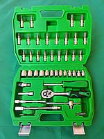 """Набор накидных головок и комплектующих на 46 единиц. """"InterTool series"""". (4-14мм) 1/4"""" (72T)."""