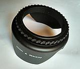 Бленда лепестковая пластиковая объектива  58 мм Canon Nikon Sony Pentax, фото 3