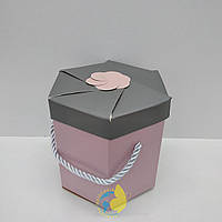 Коробка шестигранная 10,5 х 11,5 х 11,5 см