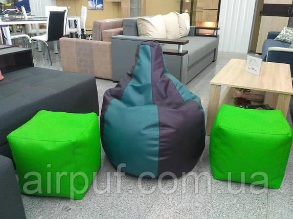 Кресло-кубик (материал эко-кожа Зевс), размер 40*40 см, фото 2