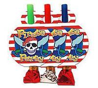 """Язычки гудки """"Пираты  """" ( упаковка 6 штук)"""