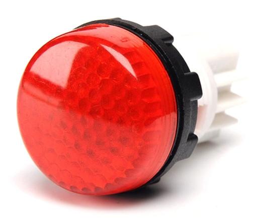 Арматура сигнальная 22мм с закрытыми зажимами под винт лампа 220В красная