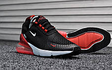 Кроссовки мужские черные Nike Air Max 270 Black Red White (реплика), фото 2