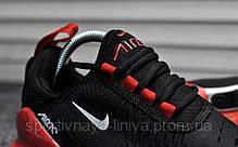 Кроссовки мужские черные Nike Air Max 270 Black Red White (реплика), фото 3