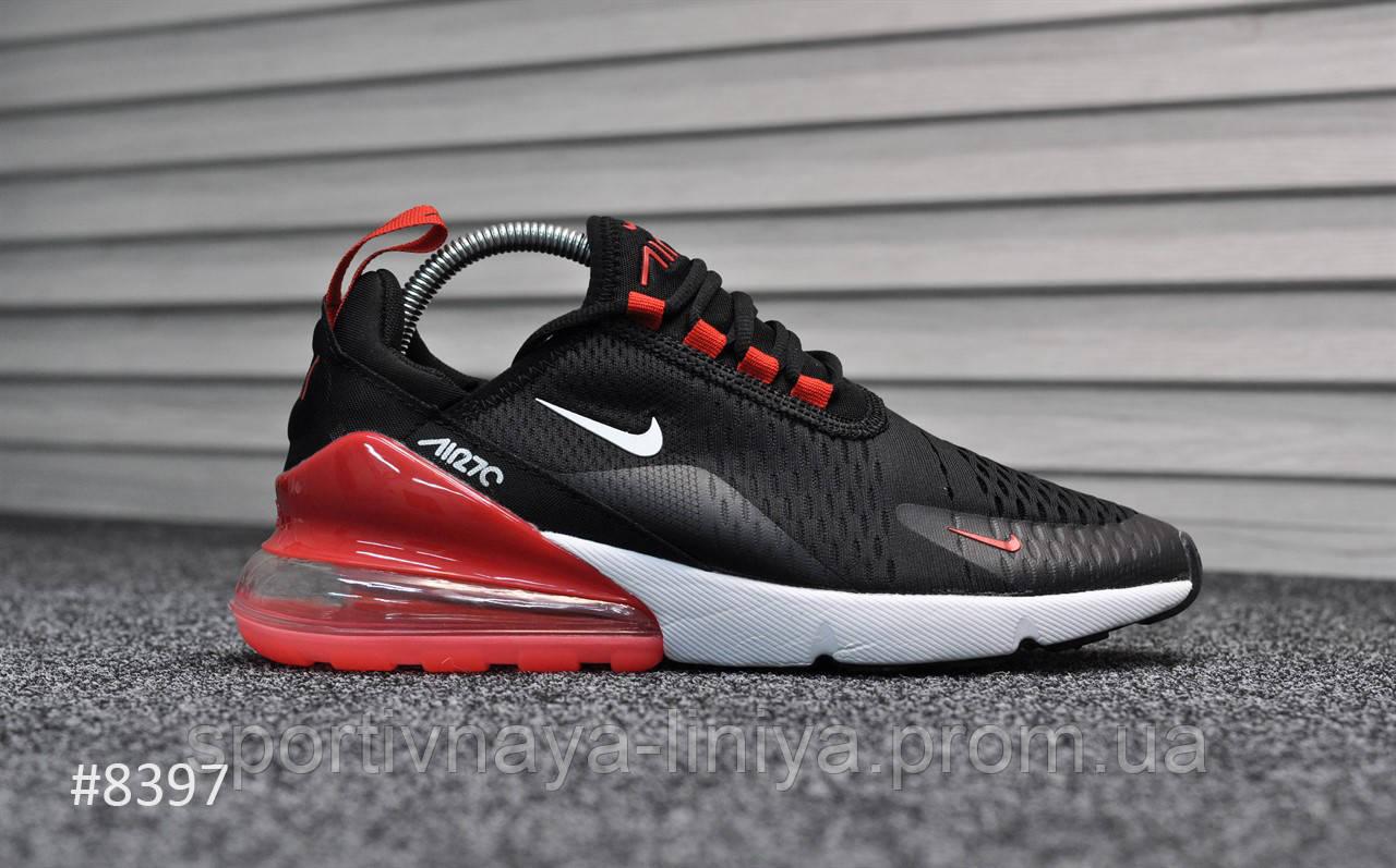 Кроссовки мужские черные Nike Air Max 270 Black Red White (реплика)