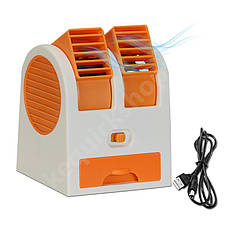 Мини кондиционер USB оранжевый, фото 2