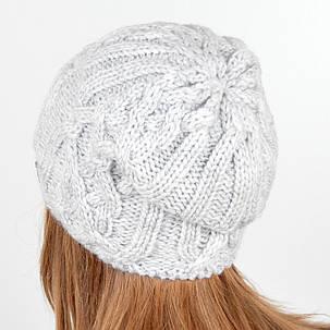 """Вязаная женская шапка """"Naomi"""", фото 2"""