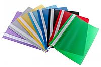 Папка скоросшиватель пластиковый для файлов А5 синяя (20шт/уп)
