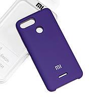 Силиконовый чехол на Xiaomi Redmi 6 Soft-touch Violet