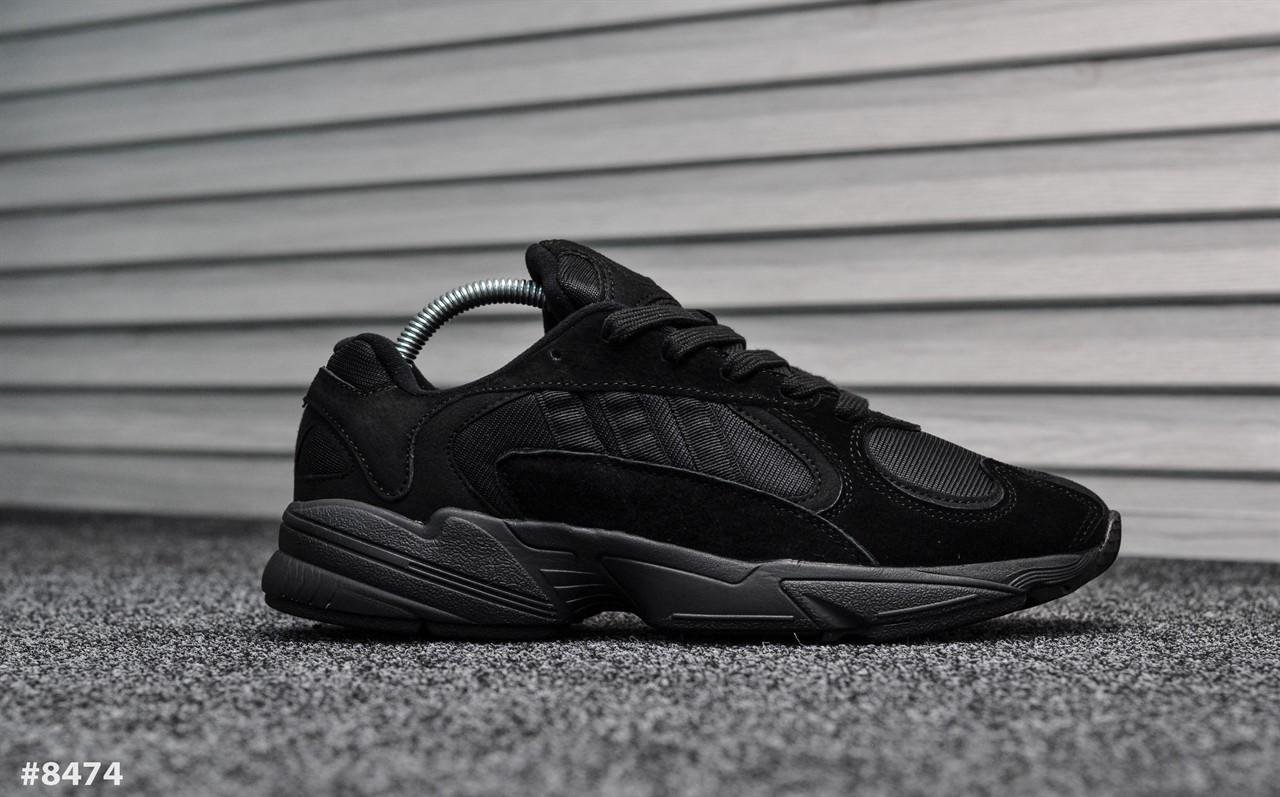 8d4dff17e8ef Мужские кроссовки Adidas Yung Triple Black Реплика ААА - TopCross в Львове