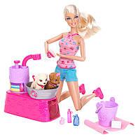 "Barbie Кукла Барби с набором ""Купание щенков"", фото 1"