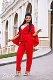 Женский костюм двойка брюки + кофта пиджак креп костюмка батал размеры:50,52,54,56, фото 2