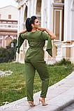 Женский костюм двойка брюки + кофта пиджак креп костюмка батал размеры:50,52,54,56, фото 6