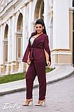 Женский костюм двойка брюки + кофта пиджак креп костюмка батал размеры:50,52,54,56, фото 3