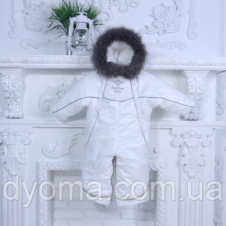 Зимний комбинезон трансформер Снежинка (белый), фото 2