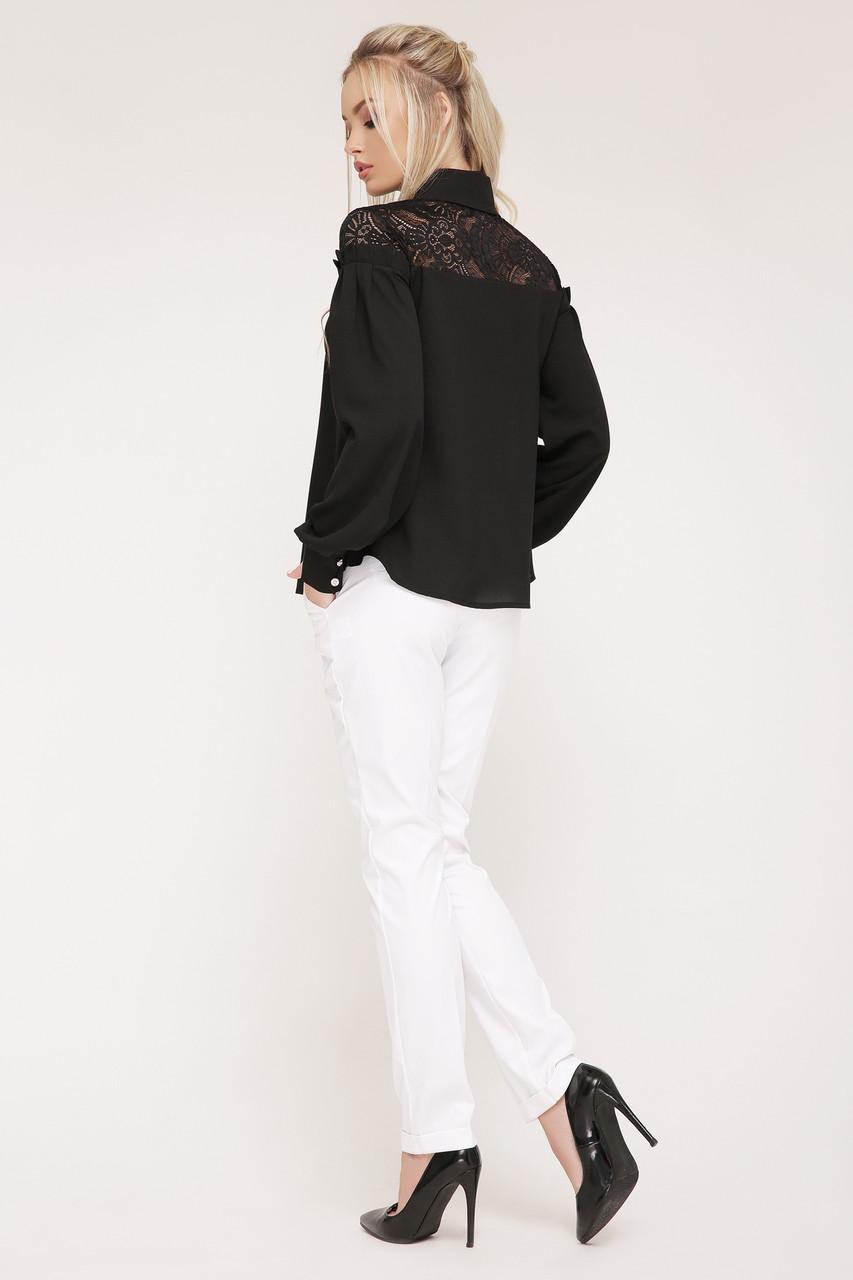 77799f17382 Нарядна блузка з креп-шифону та гипюру  продажа