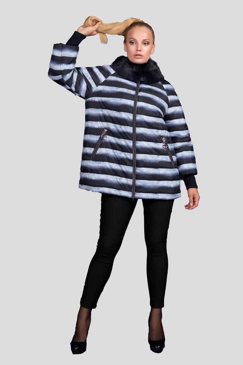 dda669a55352 Женская теплая зимняя куртка с принтом шиншилла с натуральным мехом 669 /  размер 48-68 ...