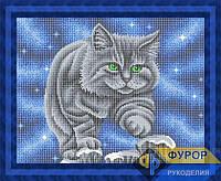 Схема для вышивки бисером Крадущийся кот