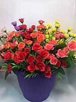 Искусственные розы.Искусственный букет минирозочек.