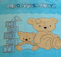 Микрофибровая простынь, покрывало Elway детское (110х140) Два медведя