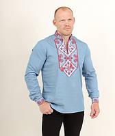Мужская рубашка вышита крестиком