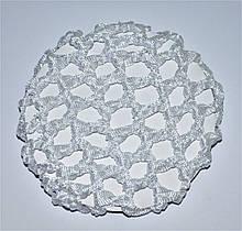 Сеточки для волос белая  - крупная вязка ( 12 шт)