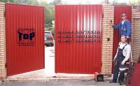 Распашные ворота TOR зашив профнастилом, 3100х1800мм , фото 1