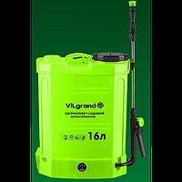 Опрыскиватель аккумуляторный 16 л (12 В; регулятор мощности; раздвижная удочка 90 см) ViLgrand SGA-16RP