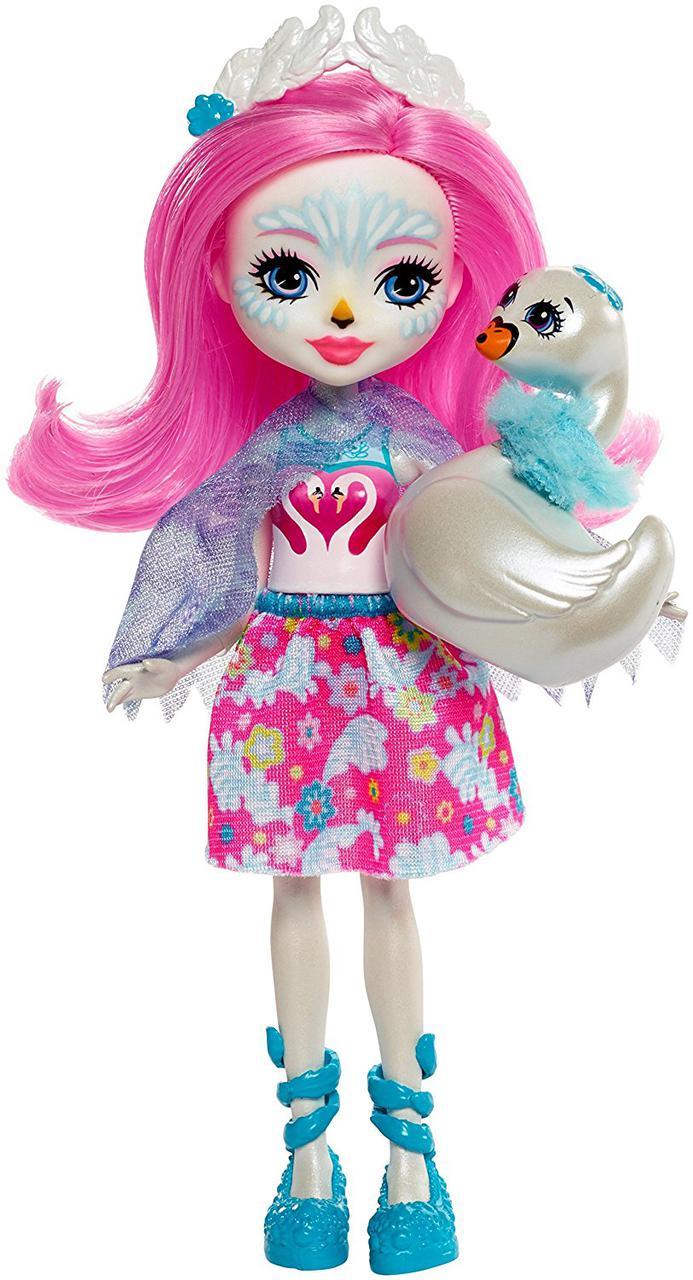 Энчантималс Лебедь Саффи и Пойз кукла с фигуркой  Enchantimals Saffi Swan Poise