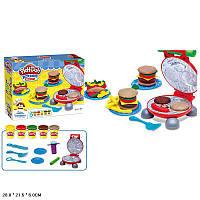 """Набір для творчості пластилін """"Кухня"""" 6620 (48шт/2) батар.,аксесуари, в коробці 28*21,5*6 см"""