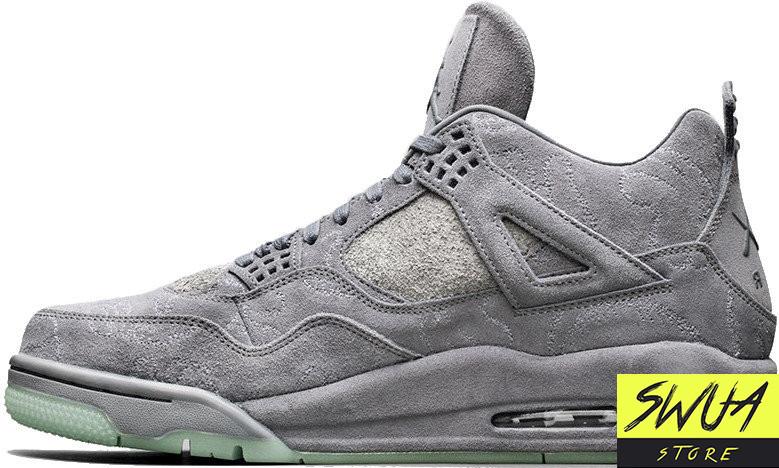 save off 49a14 b54e0 Баскетбольные кроссовки Nike Air Jordan 4 Retro Kaws Cool Grey White - SWUA- STORE в