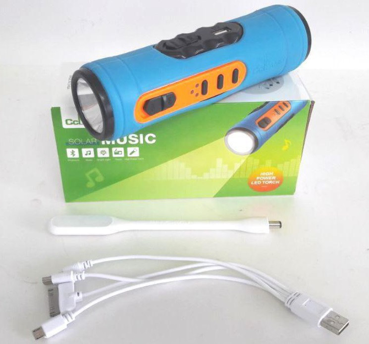 Колонка с фонариком + Power Bank 3в1 Cclamp-501