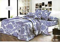 """Комплект постельного белья """"Royal Blue"""" с королевскими узорами, полуторный из ранфорса"""