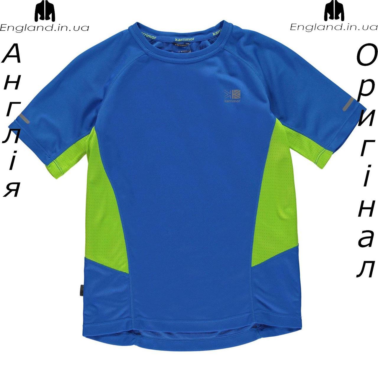 Футболка Karrimor из Англии для мальчиков 2-14 лет - беговая голубая