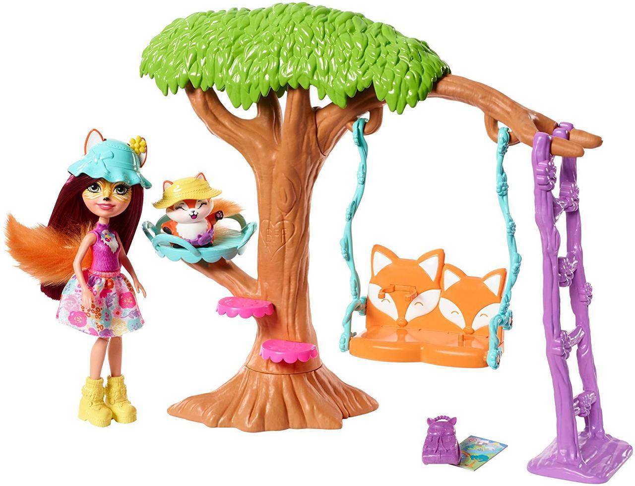 Энчантималс Лесной домик Фелисити Фокс и лесенка Игровой набор Enchantimals