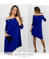 Асимметричное платье / креп - дайвинг / Украина 15-438, фото 1
