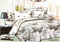 """Комплект постельного белья """"Borboleta"""" с бабочками, полуторный из ранфорса"""